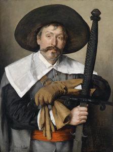 Um gaucho medieval com espada de duas mãos