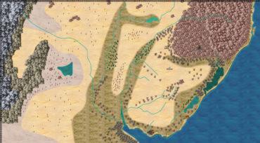 Mapa do Mundo Devastado (1º esboço)