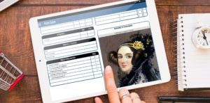 Ficha Épica no tablet
