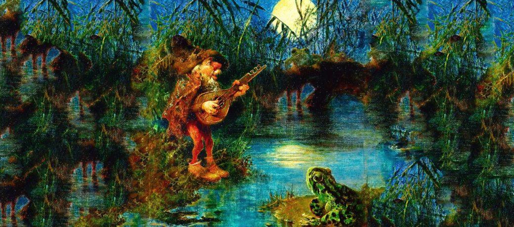 Gnomo tocando violão