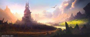Camelot Spire por Michael Richards (michael-richards.co.uk). Arte editada: recorte, brilho, saturação. Publicado sob licença Creative Commons Atribuição 3.0. Veja a licença em creativecommons.org/licenses/by/3.0/br.